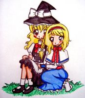 Marisa and Alice COMMISION by sekaiichihappy