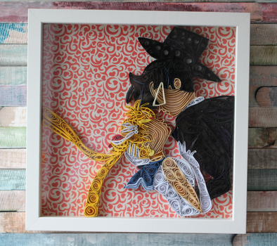 Sailor Moon Tuxedo Mask Kiss Quilled Art. by WindsweptQuilling