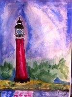 Watercolour Lighthouse by ArtisticAnna12