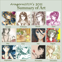 2011 art summary- Aragorn1014 by aragorn1014