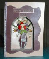 Mums Vase of Flowers Card by blackrose1959
