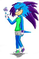 Energy the Hedgehog by xXMoonlight-DarkXx
