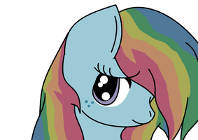 random original pony character faded rainbow!!! by TeaTheHamster