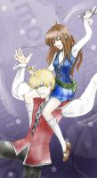 Sibling Rivalry: Eng+Scot by cocoa-au-lait