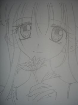 Inspired drawing of one of Arina Tanemura's works by mhonik2310