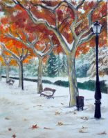 First snow at the park by montmartre96