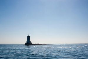 Lighthouse in the Water by FellowPhotographer