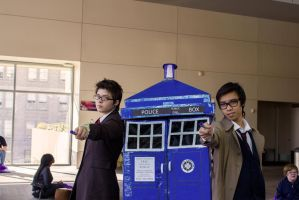 Ten with Ten at the TARDIS by kitty1321