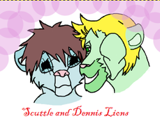 Scuttle and Dennis lions by tashstar