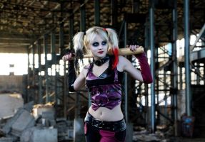 Harley Quinn Archam City cosplay by SvetaFrost