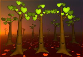Love trees by Crooty