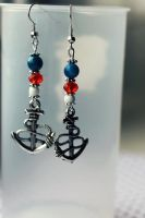 Nautical Sailor Anchor Earrings by Clerdy