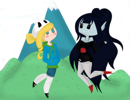 Fionna and Marceline by alexia67