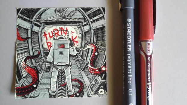 Post-It request: 'A derelict spaceship' by okmass