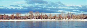 Cologne Winter Panorama by Millirat