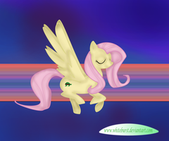 Fluttershy in the Rainbow by Whiteburst