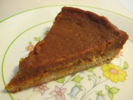 Slice of Gluten-Free Pumpkin Pie by Windthin