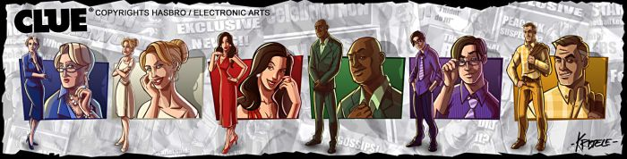 Clue Suspects by Kristele
