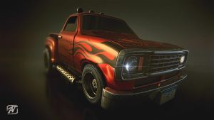 Red Truck by AhmadTurk