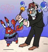 Eugene Krabs VS Stan Pines! by Chickenmonkey707