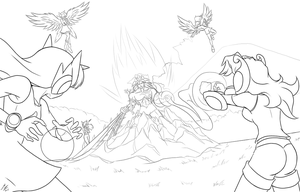 Harmony vs spike (unfinished) by mauroz