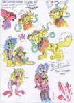 more random zombie doodles and a new doggie by WereWolf39
