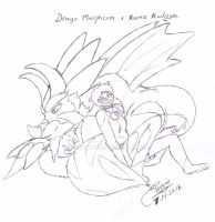 Relaxed Drago and Karen by zmorphcom