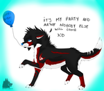 .:Gift:. Happy early b-day by NarraWolfy