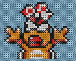 Wendy Koopa Cross Stitch 2 by drsparc
