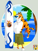Surfing Tiger by kidbuda