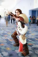Defending the corridor: Valka by Onyx-chan