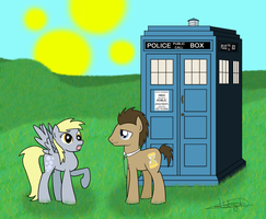 Doctor Whooves and Ditzy by Holiguti