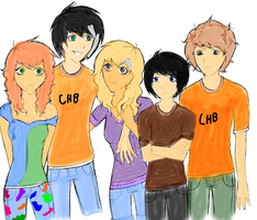 Percy jackson group colored by The1andonlyRaven