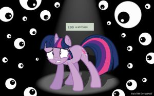 Twilight Sparkle: 100 Watchers!?! by Paris7500