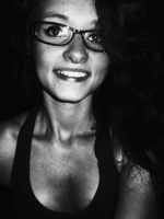 Smile black and white by AmberLynn26