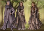 Antar, Cathene, and Princess Theia by fanfictionaxis
