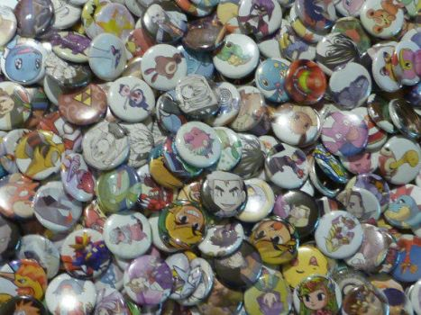 Upcycled Buttons by NinjaLizzard