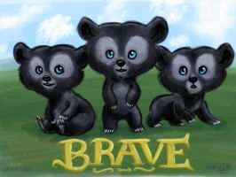 Brave - Bear Triplets by T-2-da-Rouble