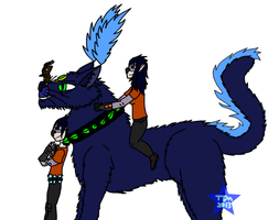 Pulsar with her Kiddos by TatterTotMinion
