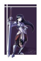 Coloring Contest Entry: Female Warrior by thedandmom