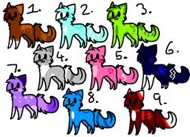Adoptables Batch 1 ~OPEN~ by Bl00kitty