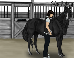Solace App: Caleb and Stranger by RoseThornStables