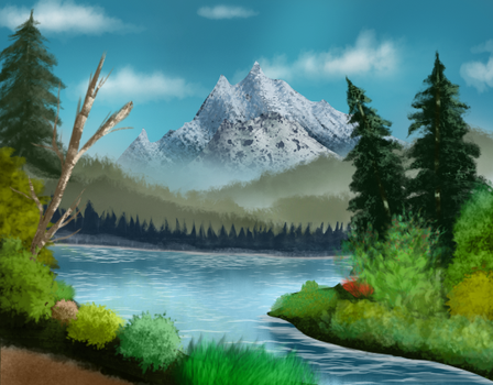 Lake By The Mountain by jamheadii