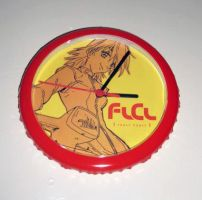 FLCL Haruko Wall Clock by Pencil-Dragonslayer