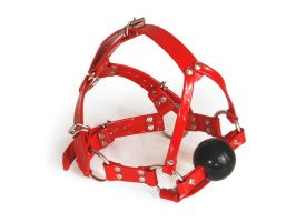 Red harness gag by Me-Se