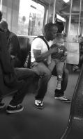 Together with Daddy on the metro by steppeland