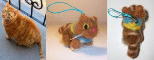Commissioned Needle Felt Cat by StCoraline