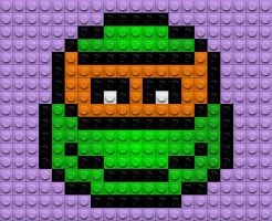 Lego Michelangelo Emoticon by drsparc