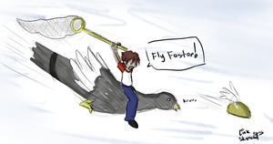 Day 256 - Chasing The Flying Taco by LinkSketchit