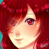Color Practice - Lady of Red by SakuraTenshi101